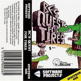 Box cover for BC's Quest for Tires on the Sinclair ZX Spectrum.