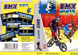 Box cover for BMX Ninja on the Sinclair ZX Spectrum.