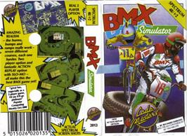 Box cover for BMX Simulator on the Sinclair ZX Spectrum.
