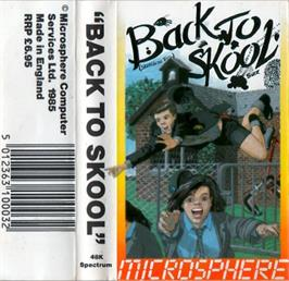 Box cover for Back to Skool on the Sinclair ZX Spectrum.