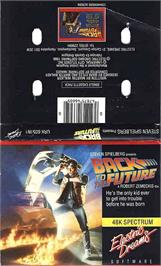 Box cover for Back to the Future on the Sinclair ZX Spectrum.