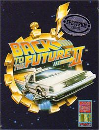 Box cover for Back to the Future Part II on the Sinclair ZX Spectrum.