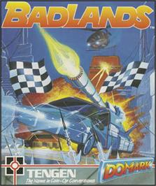 Box cover for Badlands on the Sinclair ZX Spectrum.