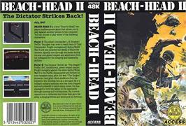 Box cover for Beach Head II: The Dictator Strikes Back! on the Sinclair ZX Spectrum.