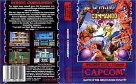 Box cover for Bionic Commando on the Sinclair ZX Spectrum.
