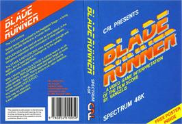 Box cover for Blade Runner on the Sinclair ZX Spectrum.
