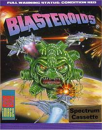 Box cover for Blasteroids on the Sinclair ZX Spectrum.