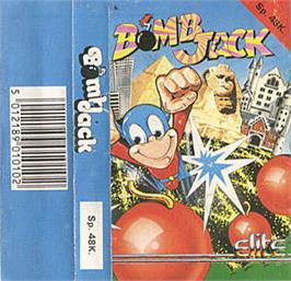 Box cover for Bomb Jack on the Sinclair ZX Spectrum.