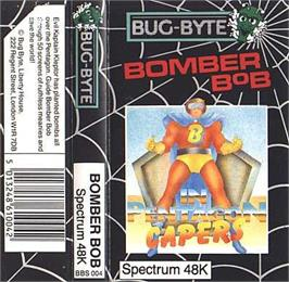 Box cover for Bomber Bob In Pentagon Capers on the Sinclair ZX Spectrum.