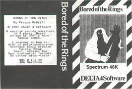 Box cover for Bored of the Rings on the Sinclair ZX Spectrum.