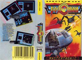 Box cover for Bosconian '87 on the Sinclair ZX Spectrum.