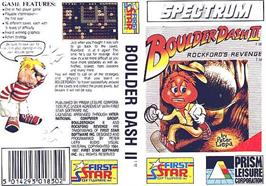 Box cover for Boulderdash II: Rockford's Revenge on the Sinclair ZX Spectrum.
