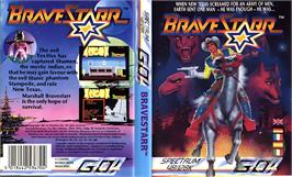 Box cover for BraveStarr on the Sinclair ZX Spectrum.