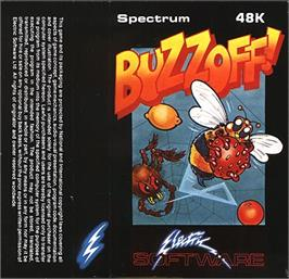 Box cover for Buzz Off! on the Sinclair ZX Spectrum.