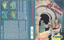 Box cover for La Abadía del Crimen on the Sinclair ZX Spectrum.