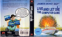 Box cover for Live and Let Die on the Sinclair ZX Spectrum.