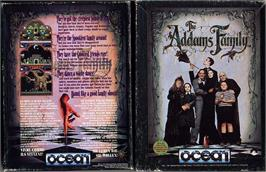 Box cover for The Addams Family on the Sinclair ZX Spectrum.