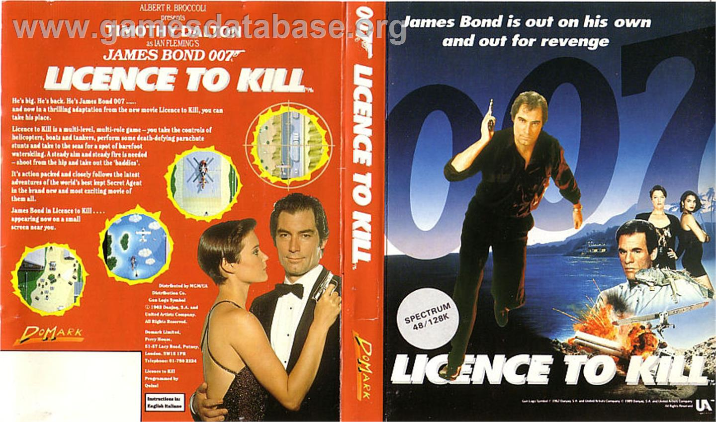 007: Licence to Kill - Sinclair ZX Spectrum - Artwork - Box
