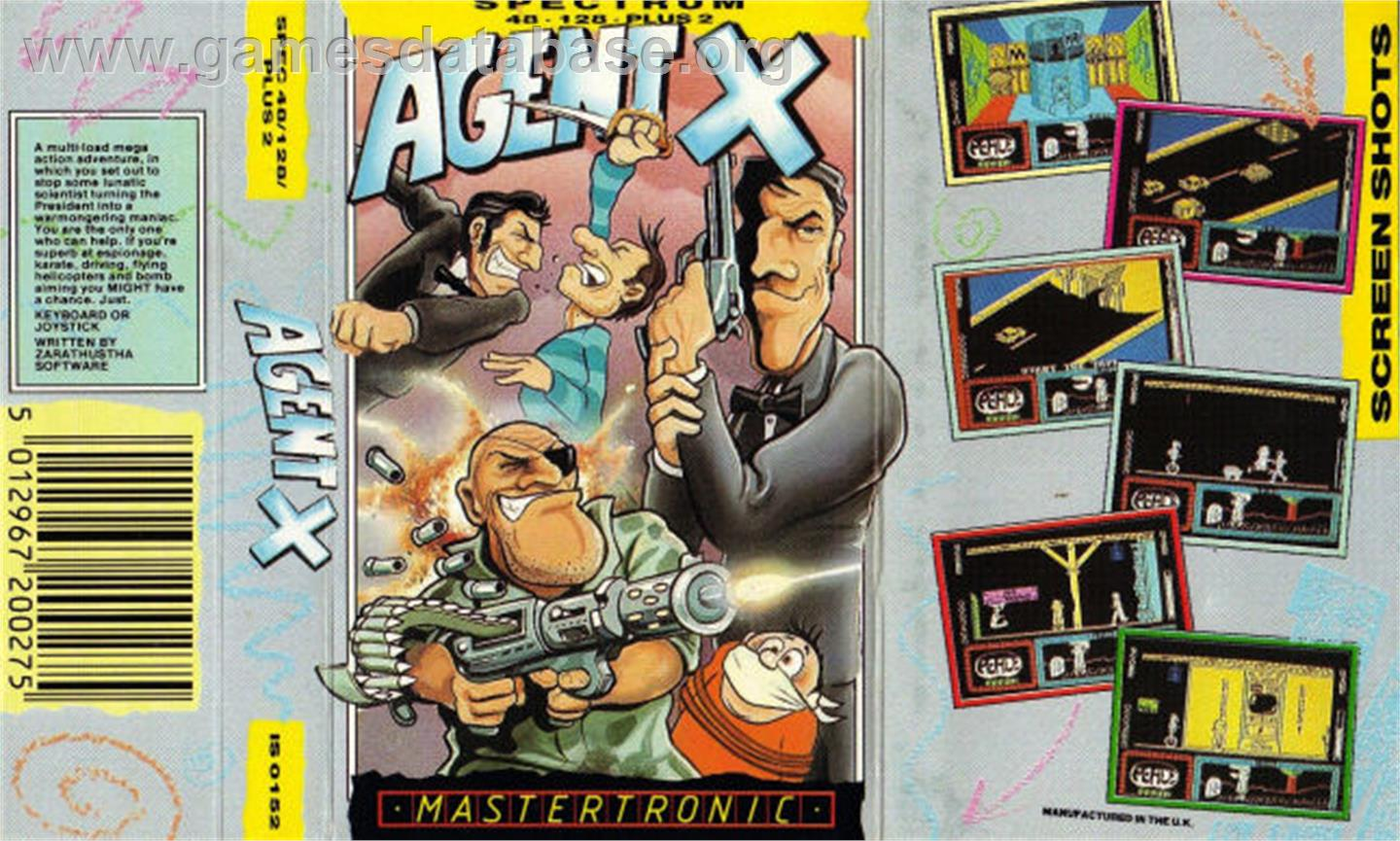 Agent X II: The Mad Prof's Back! - Sinclair ZX Spectrum - Artwork - Box