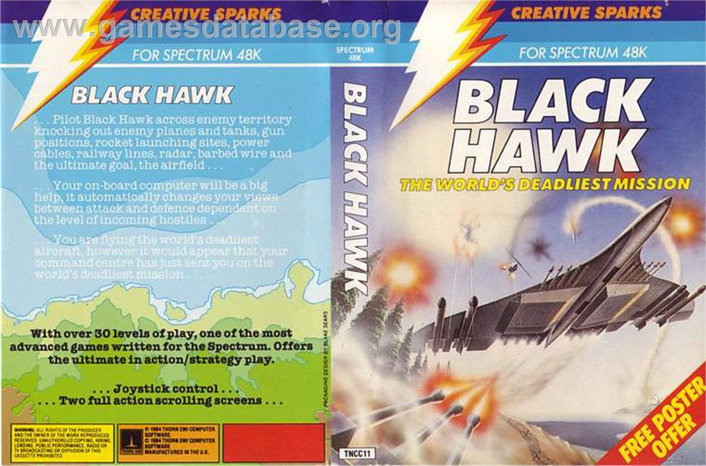 Black Hawk - Sinclair ZX Spectrum - Artwork - Box