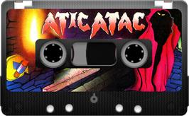 Cartridge artwork for Atic Atac on the Sinclair ZX Spectrum.