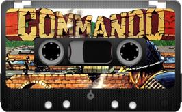 Cartridge artwork for Commando on the Sinclair ZX Spectrum.