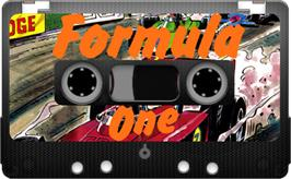 Cartridge artwork for Formula One on the Sinclair ZX Spectrum.