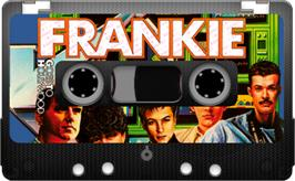 Cartridge artwork for Frankie Goes to Hollywood on the Sinclair ZX Spectrum.