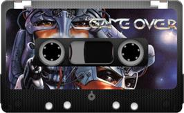 Cartridge artwork for Game Over on the Sinclair ZX Spectrum.