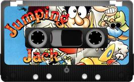 Cartridge artwork for Jumping Jack on the Sinclair ZX Spectrum.