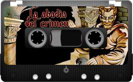 Cartridge artwork for La Abadía del Crimen on the Sinclair ZX Spectrum.