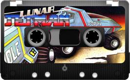 Cartridge artwork for Lunar Jetman on the Sinclair ZX Spectrum.