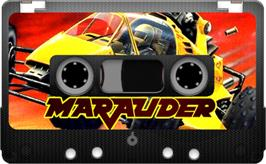 Cartridge artwork for Marauder on the Sinclair ZX Spectrum.