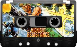 Cartridge artwork for Midnight Resistance on the Sinclair ZX Spectrum.