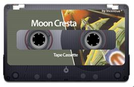 Cartridge artwork for Moon Cresta on the Sinclair ZX Spectrum.