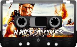 Cartridge artwork for Navy Moves on the Sinclair ZX Spectrum.