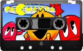 Cartridge artwork for Pac-Mania on the Sinclair ZX Spectrum.