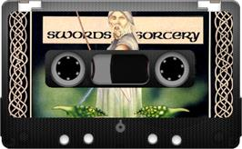 Cartridge artwork for Swords & Sorcery on the Sinclair ZX Spectrum.