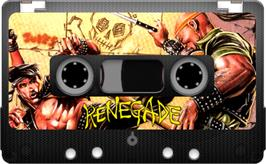 Cartridge artwork for Target: Renegade on the Sinclair ZX Spectrum.