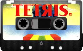 Cartridge artwork for Tetris on the Sinclair ZX Spectrum.
