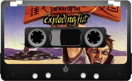 Cartridge artwork for The Way of the Exploding Fist on the Sinclair ZX Spectrum.