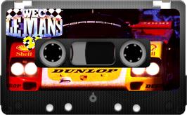 Cartridge artwork for WEC Le Mans on the Sinclair ZX Spectrum.