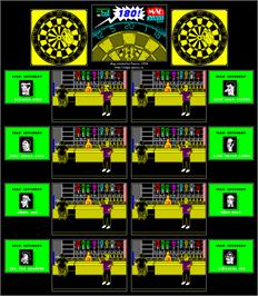 Game map for 180! Pub Darts on the Commodore 64.