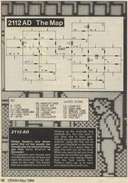 Game map for 2112 AD on the Sinclair ZX Spectrum.