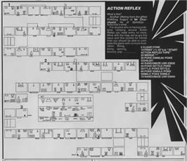 Game map for Action Reflex on the Sinclair ZX Spectrum.