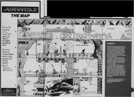 Game map for Airwolf on the Sinclair ZX Spectrum.