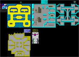 Game map for Alien Syndrome on the Sega Master System.