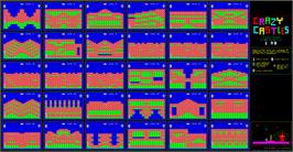 Game map for Arcade Classics on the Sinclair ZX Spectrum.