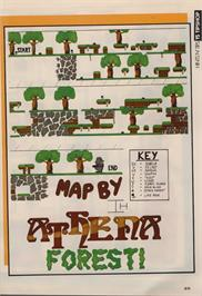 Game map for Athena on the Commodore 64.