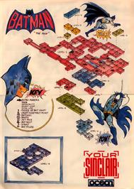Game map for Batman on the Sinclair ZX Spectrum.